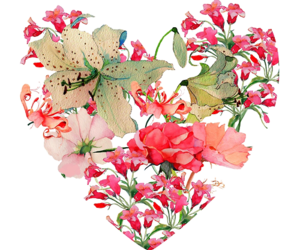 flowers, heart, and png image