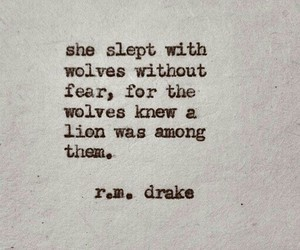 quote, lion, and wolves image