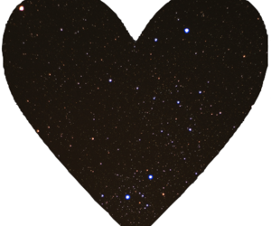 black, galaxy, and heart image