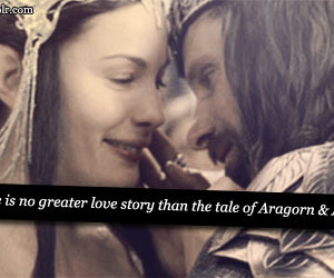 lord of the rings, aragorn, and arwen image