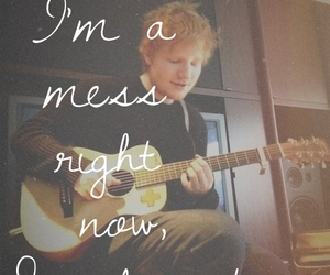 ed sheeran, mess, and song image