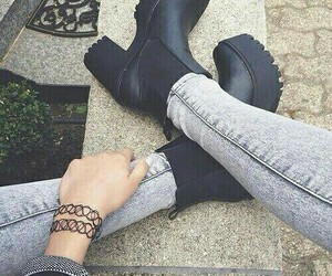 beautiful, black, and black shoes image
