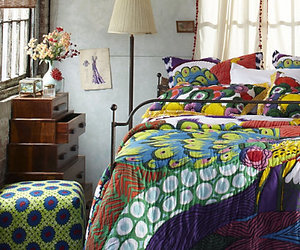 Anthropologie, bed, and bedding image