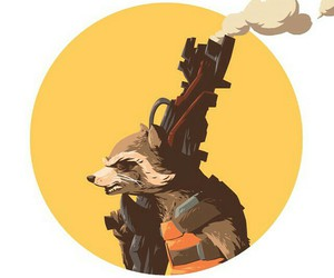 rocket raccoon, guardians of the galaxy, and gotg image