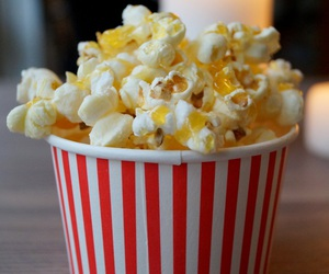 food, popcorn, and movies image