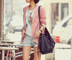 fashion, girl, and pink image