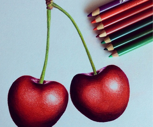 cherry, drawing, and art image