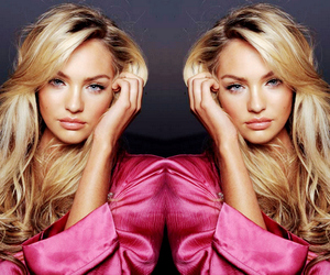 model, blonde, and candice swanepoel image
