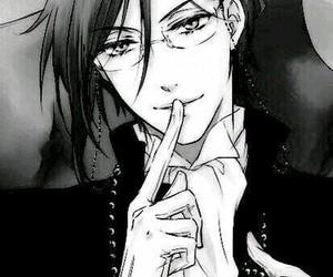 black & white, black butler, and kuroshitsuji image