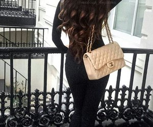 chanel, chanel bag, and curls image