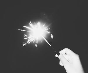 black and white, fireworks, and 2015 image