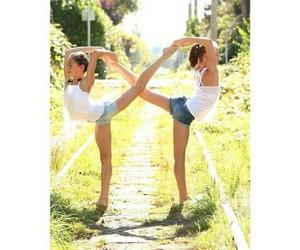 best friends, flexibility, and flexible image