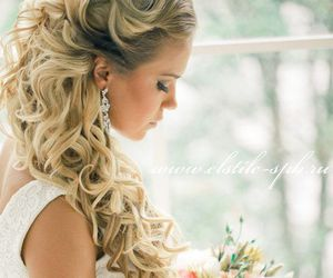 hair, wedding, and beauty image
