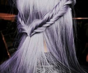 braid, hair, and purple hair image