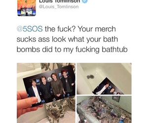bath bombs, louis, and merch image