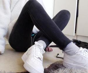 pale, nike, and white image