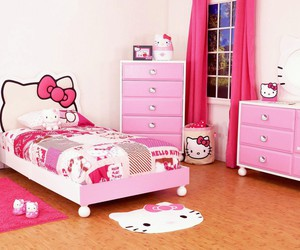 hello kitty, pink, and room image