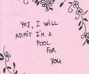 love, quote, and fool image