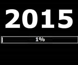 happy new year, 2015, and 1% image