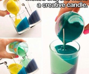 diy, candle, and crayon image