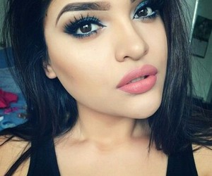 beautiful, brunette, and eyebrows image