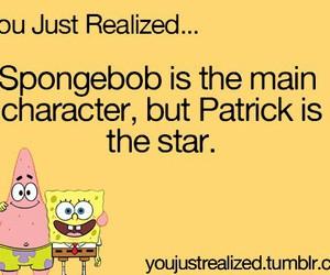 spongebob, patrick, and stars image