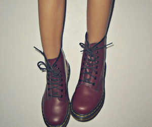 doc martens, shoes, and maroon image