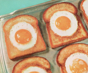 kawaii, lunch, and eggs on toast image