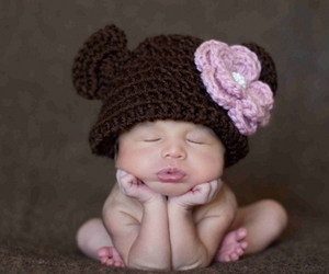 baby, hat, and cute image