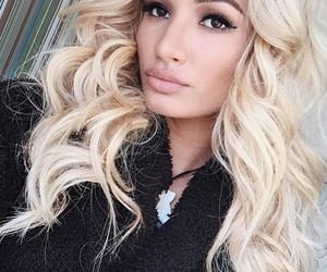 pia mia, blonde, and hair image