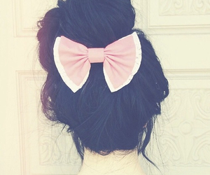 hair, bow, and cute image