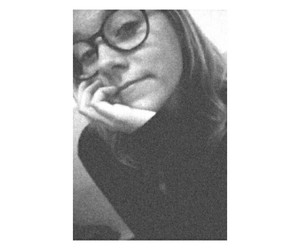 black and white, heart it, and glasses image