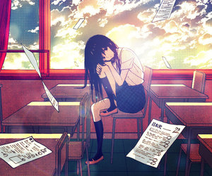 anime, school, and taiyou no ie image