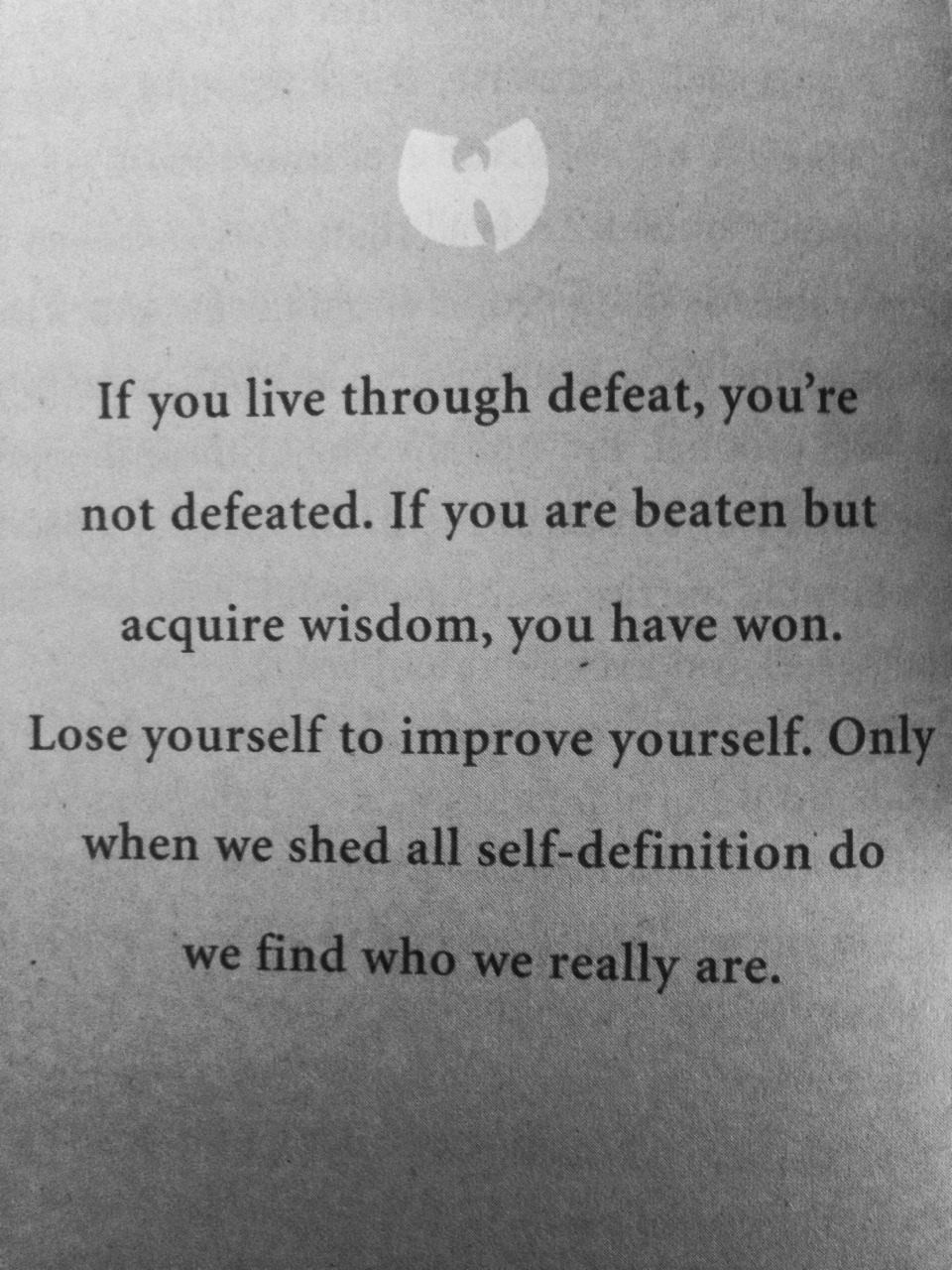 wu tang clan quote | via Tumblr on We Heart It