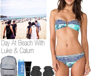 beach, 5sos, and calumhood image