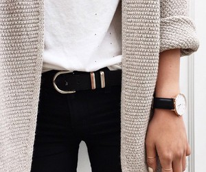 beige, sweater, and vest image