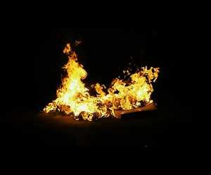 bonfire, fire, and fireworks image