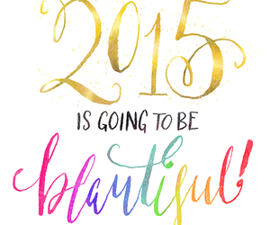 beautiful, happy new year, and 2015 image