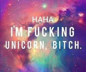bitch, unicorn, and dreams image
