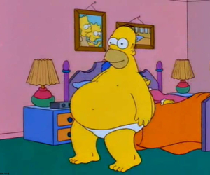 homer, fat, and simpsons image