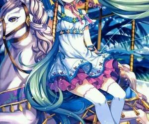anime girl, beautiful, and fun image