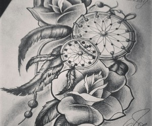 drawing, roses, and Dream image