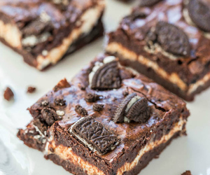 brownies, chocolate, and cream cheese image