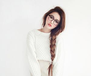 ulzzang, korean, and hair image