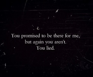 quote, lies, and promise image