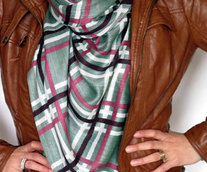 green, scarves, and tartan scarf image