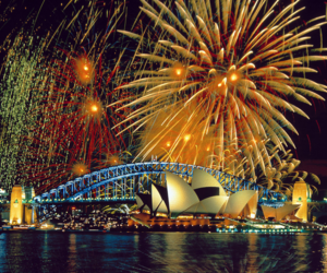 fireworks and Sydney image