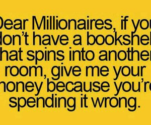 funny, millionaire, and money image