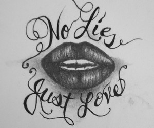 drawing, just, and lies image