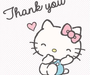 hello kitty, sanrio, and thank you image